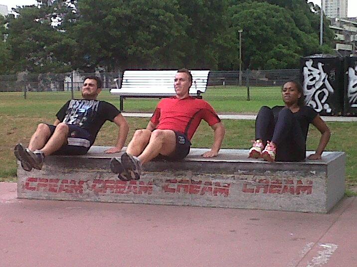 Adam, Shaun and Paulini working hard :)