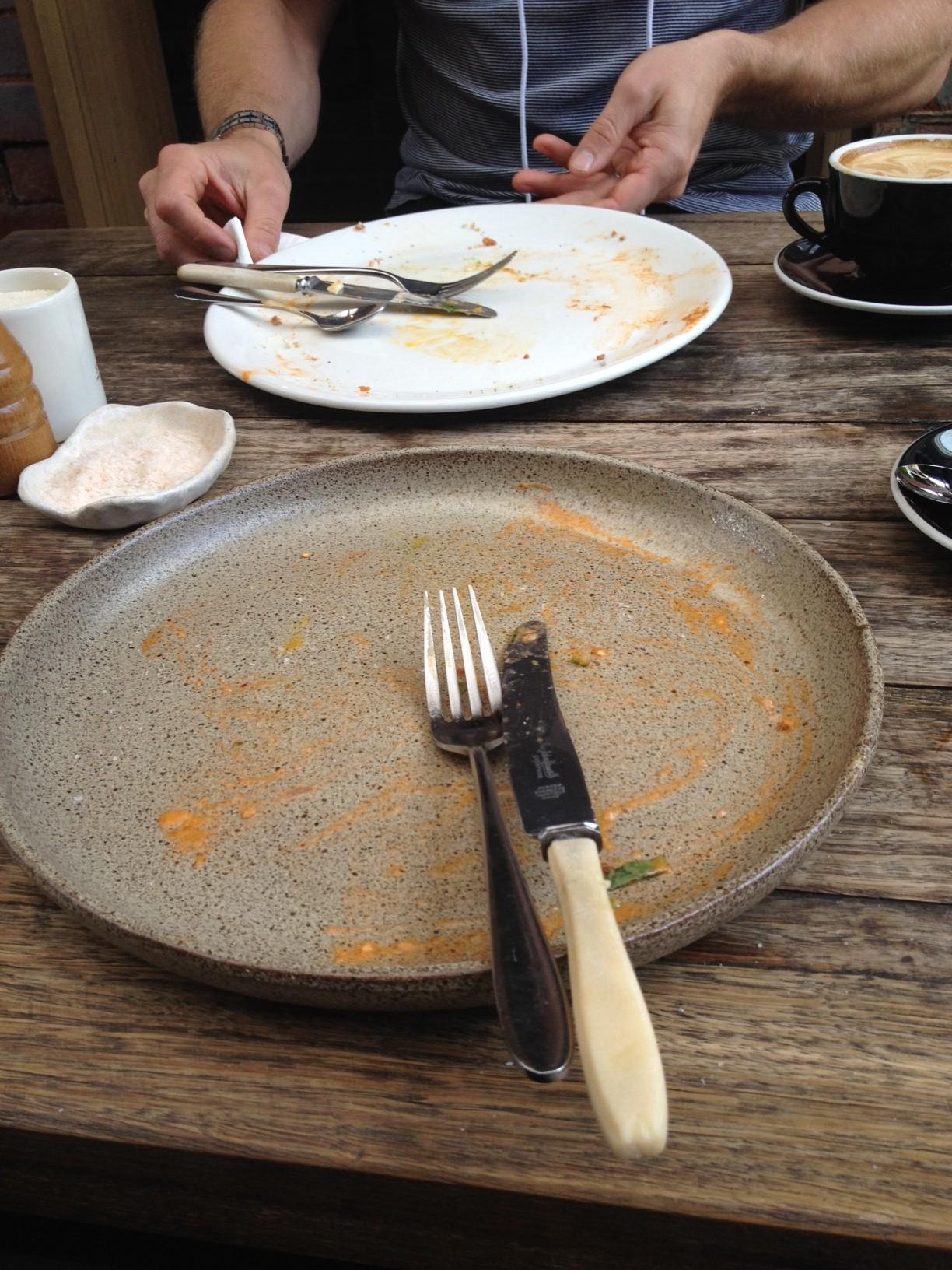 Empty plates, I'm not sure if we enjoyed it or not :)